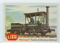 1955 Rails and Sails 24 Natchez and Hamburg Railroad Near-Mint Plus
