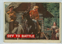 1956 Davy Crockett Orange 3 Off to Battle Fair to Good