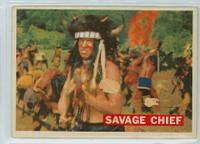 1956 Davy Crockett Orange 21 Savage Chief Poor
