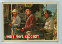 1956 Davy Crockett Orange 36 Don't Move, Crockett Good to Very Good
