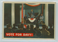 1956 Davy Crockett Orange 41 Vote for Davy! Fair to Good