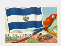1956 Flags of the World 3 El Salvador Near-Mint Plus