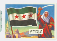 1956 Flags of the World 4 Syria Near-Mint