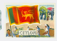 1956 Flags of the World 5 Ceylon Near-Mint Plus