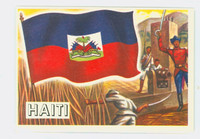 1956 Flags of the World 16 Haiti Excellent to Excellent Plus
