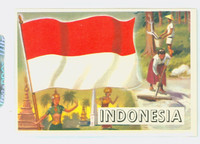 1956 Flags of the World 20 Indonesia Excellent to Mint