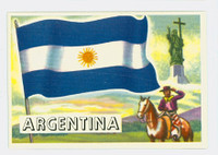 1956 Flags of the World 21 Argentina Near-Mint Plus