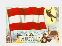 1956 Flags of the World 24 Austria Near-Mint Plus