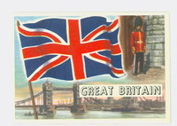 1956 Flags of the World 26 Great Britain Excellent