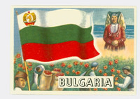1956 Flags of the World 28 Bulgaria Near-Mint Plus