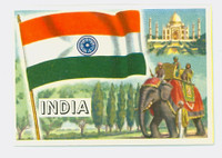 1956 Flags of the World 34 India Near-Mint