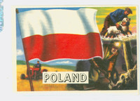 1956 Flags of the World 49 Poland Excellent to Mint