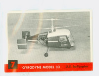 1956 Jets 7 Gyrodyne Model 33 Excellent