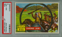 1956 Round Up 28 Taking Aim PSA 8 Near Mint to Mint