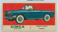 1961 Sports Cars 31 Simca Very Good to Excellent
