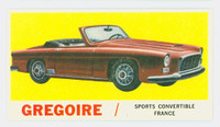 1961 Sports Cars 58 Gregoire Excellent to Excellent Plus