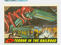 1962 Mars Attacks 34 Terror In The Railroad Excellent to Mint