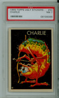 1965 Ugly Stickers 40 Charlie PSA 7 Near Mint