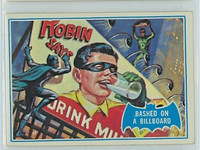 1966 Batman Blue Bat 9 Bashed on a Billboard Near-Mint Logo