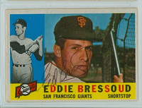 Eddie Bressoud AUTOGRAPH 1960 Topps #253 Giants CARD IS F/P; AUTO CLEAN