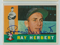 Ray Herbert AUTOGRAPH 1960 Topps #252 Athletics CARD IS CLEAN VG/EX  [SKU:HerbR408_T60BB]