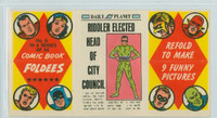 1966 Comic Book Foldees 6 Riddler Elected Head of City Council Near-Mint to Mint