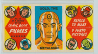 1966 Comic Book Foldees 19 Gold, the Metalman Near-Mint to Mint