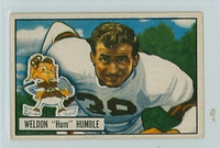 1951 Bowman Football 1 Weldon Humble ROOKIE Cleveland Browns Excellent