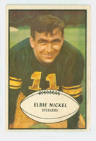 1953 Bowman Football 18 Elbert Nickel Pittsburgh Steelers Excellent