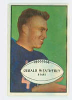 1953 Bowman Football 48 Gerald Weatherly Chicago Bears Excellent to Excellent Plus