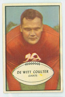 1953 Bowman Football 64 Tex Coulter Single Print New York Giants Good to Very Good