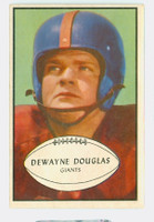 1953 Bowman Football 65 Dewayne Douglas New York Giants Excellent