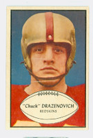 1953 Bowman Football 94 Chuck Drazenovich Washington Redskins Excellent to Mint