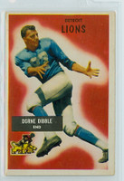 1955 Bowman Football 4 Dorne Dibble Detroit Lions Excellent