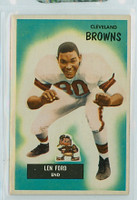 1955 Bowman Football 14 Len Ford ROOKIE Cleveland Browns Excellent to Excellent Plus