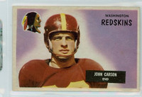 1955 Bowman Football 22 Johnny Carson Washington Redskins Excellent
