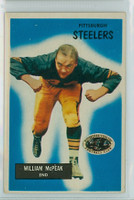 1955 Bowman Football 116 Bill McPeak Pittsburgh Steelers Excellent