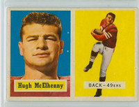 1957 Topps Football 95 Hugh McElhenny High Number Single Print San Francisco 49ers Excellent to Mint