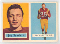 1957 Topps Football 98 Joe Scudero Washington Redskins Near-Mint