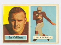 1957 Topps Football 100 Joe Childress Chicago Cardinals Excellent