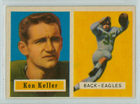 1957 Topps Football 111 Ken Keller Philadelphia Eagles Excellent to Excellent Plus