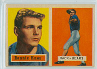 1957 Topps Football 149 Ronnie Knox Chicago Bears Excellent