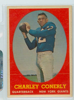 1958 Topps Football 84 Charley Conerly New York Giants Excellent to Excellent Plus