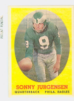 1958 Topps Football 90 Sonny Jurgensen ROOKIE Philadelphia Eagles Excellent
