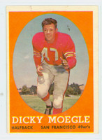 1958 Topps Football 124 Dick Moegle San Francisco 49ers Excellent
