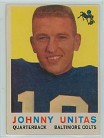 1959 Topps Football 1 Johnny Unitas Baltimore Colts Very Good