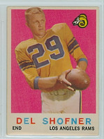 1959 Topps Football 15 Del Shofner ROOKIE Los Angeles Rams Very Good
