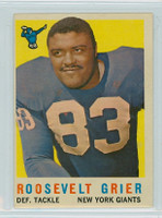1959 Topps Football 29 Roosevelt Grier New York Giants Very Good