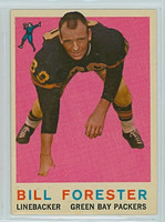 1959 Topps Football 39 Bill Forester Green Bay Packers Excellent to Mint