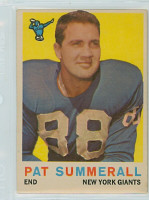 1959 Topps Football 41 Pat Summerall New York Giants Excellent to Excellent Plus